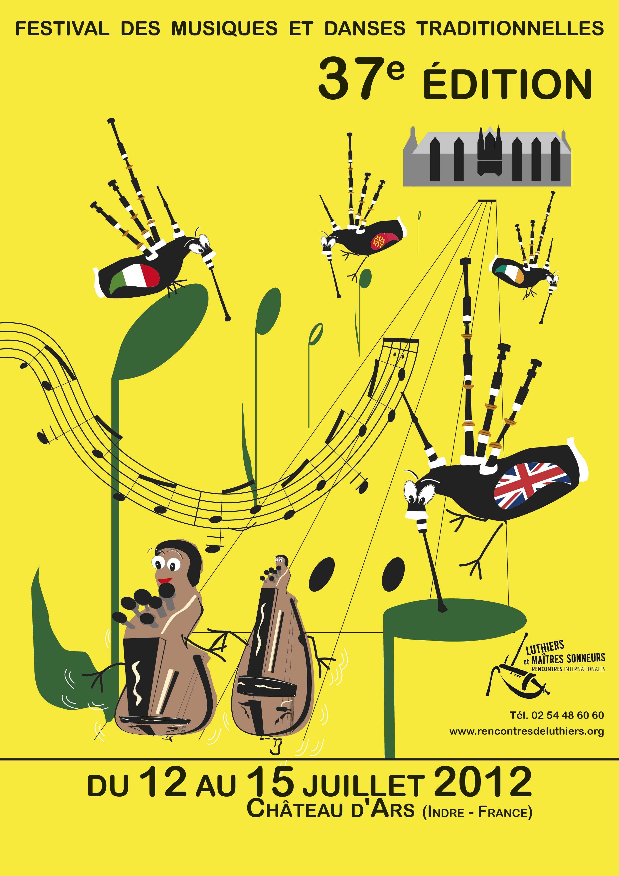 Luthiers et maîtres sonneurs, rencontres internationales, juillet 2012