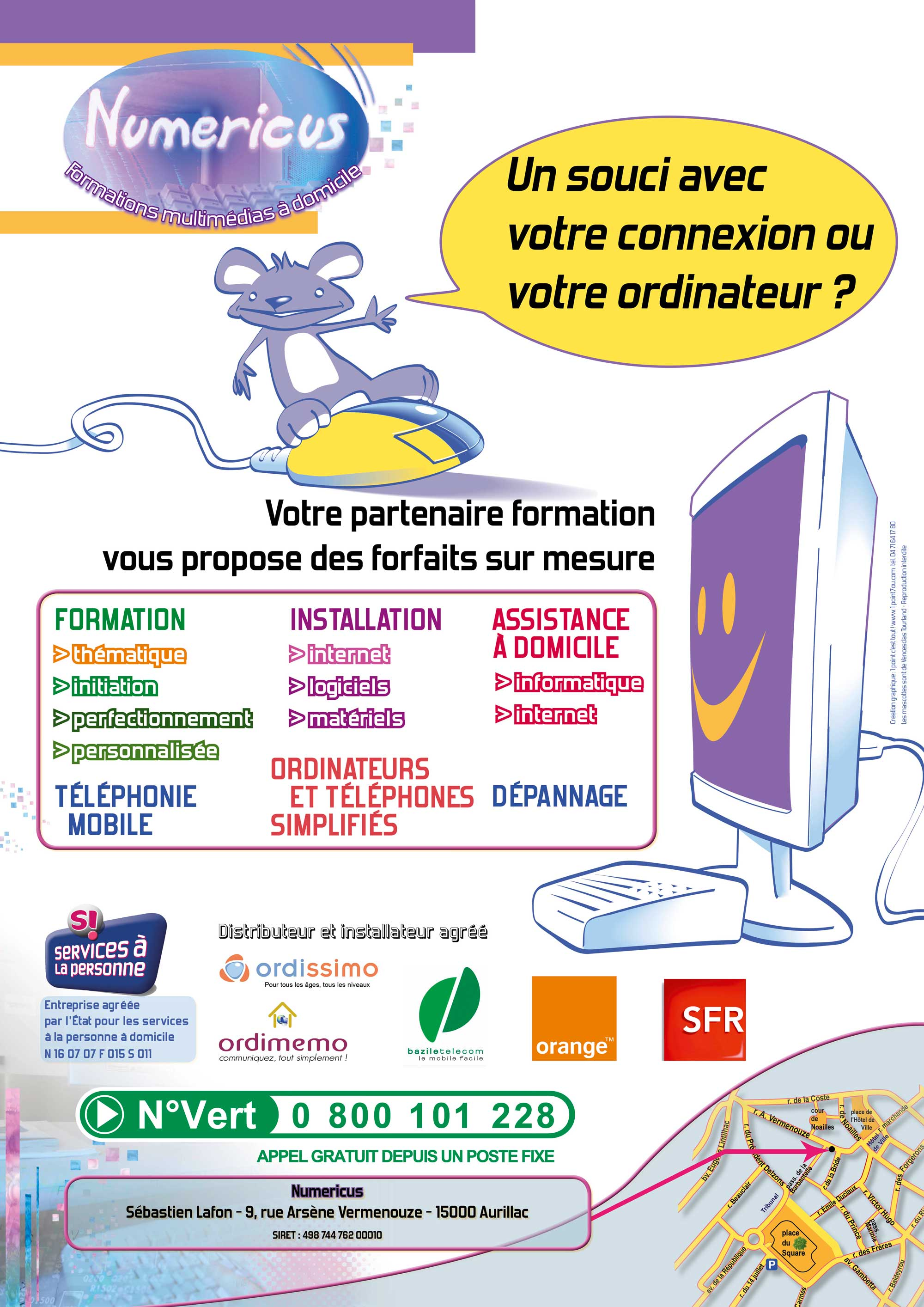 Affiche pour l'entreprise Numericus - Aurillac