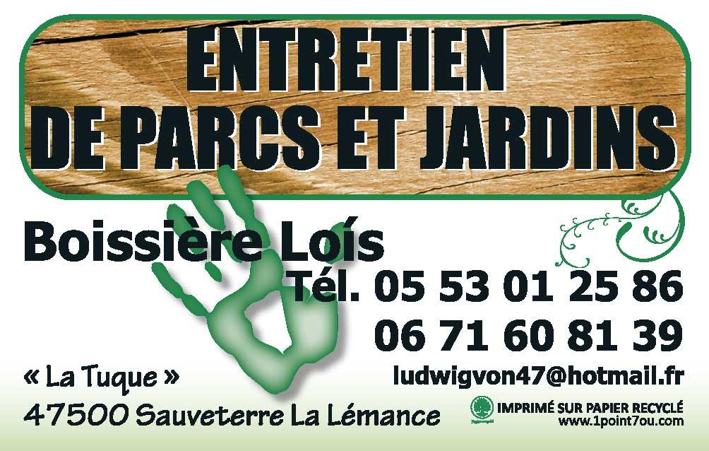 Carte de visite - Boissière Lois