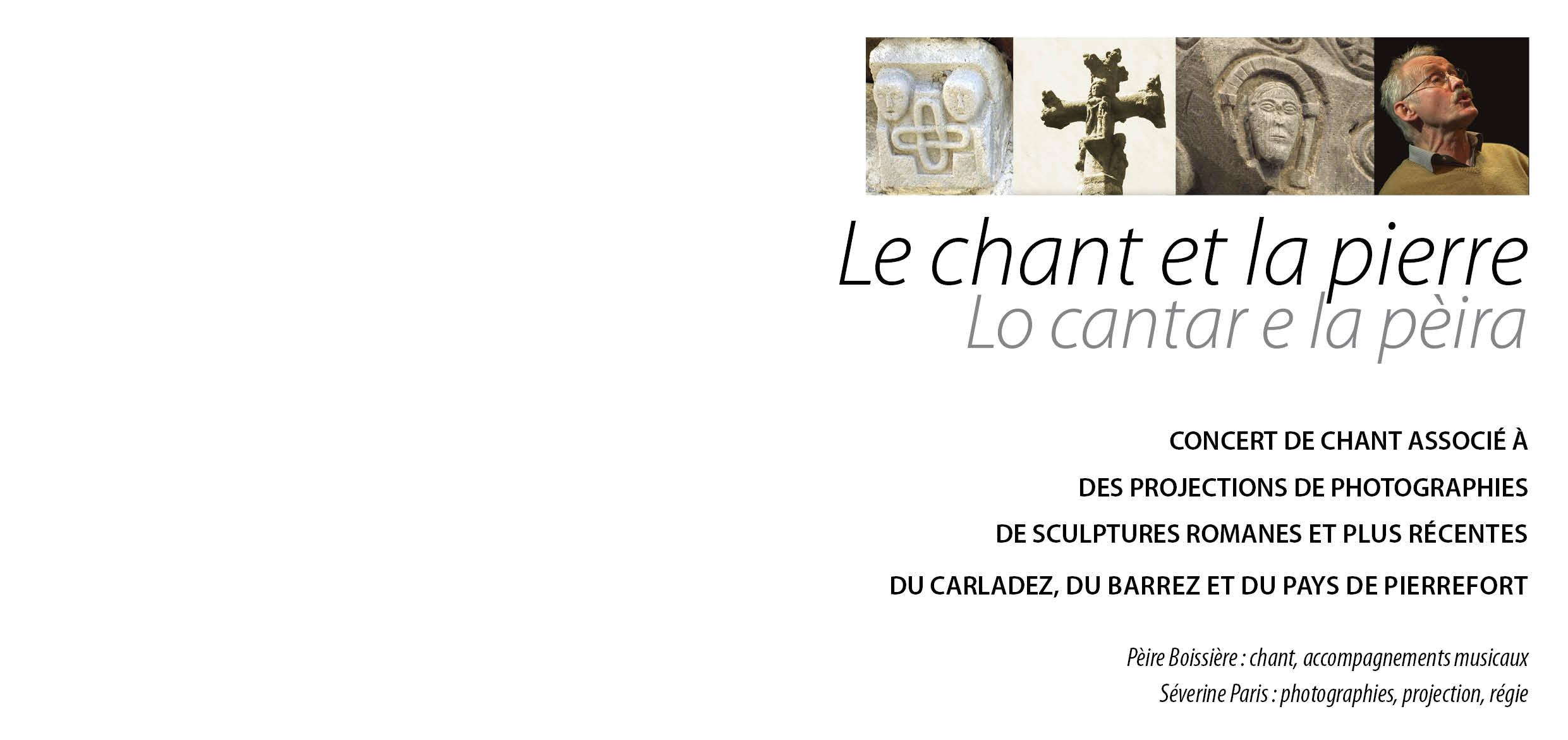 Le chant et la pierre / Lo cantar e la pèira de Pèire Boissière